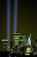 9-11 beams of light