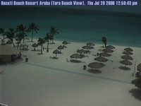 Aruba beach cam empty