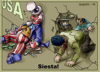 Immigration siesta!