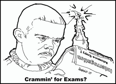 Crammin for exams